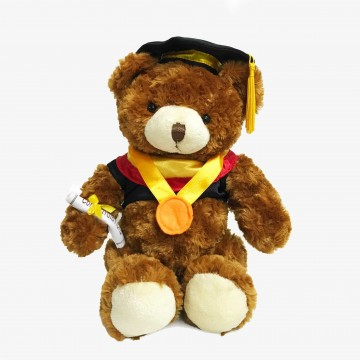 "BEAR GRADUATION 10"" DARK BROWN"